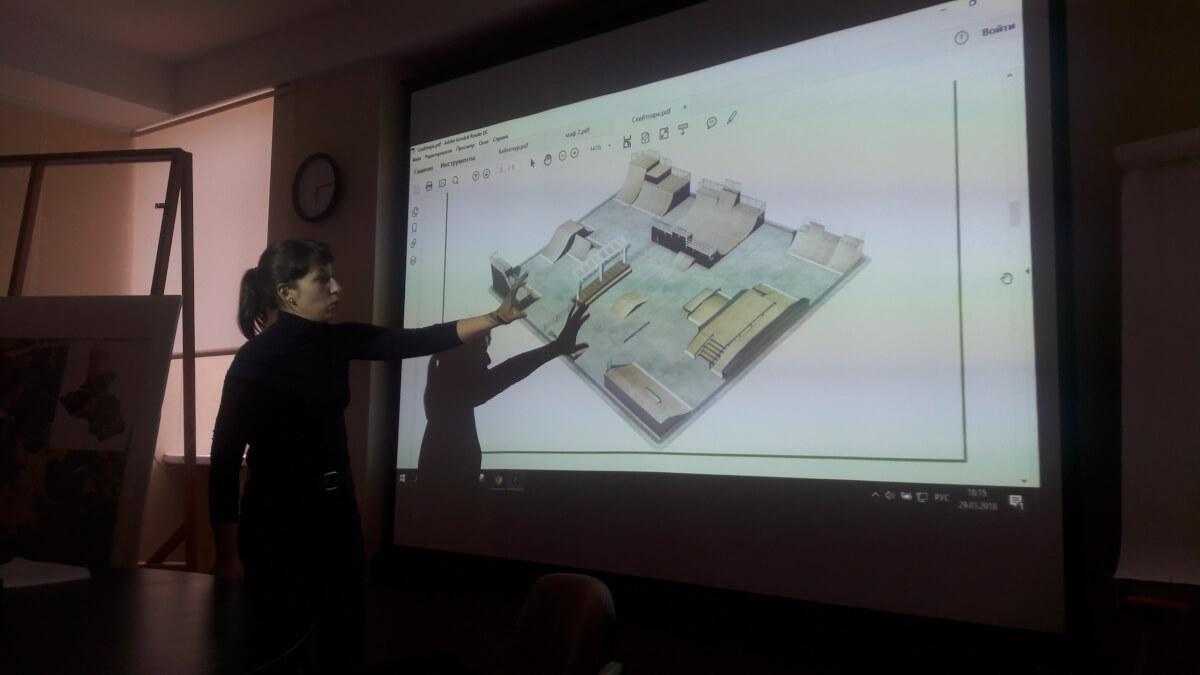 Презентация проекта сквера «Байконур» на арх-худ совете
